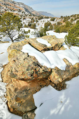 Photograph - Snow Covered Colorado National Monument by Ray Mathis
