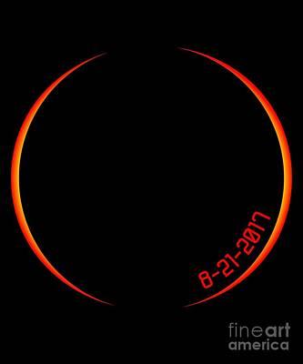 Digital Art - Solar Eclipse 2017 by Flippin Sweet Gear