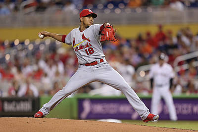 Photograph - St Louis Cardinals V Miami Marlins by Rob Foldy