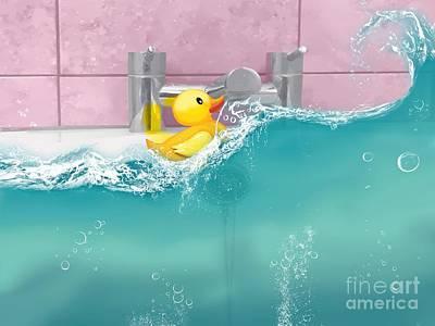 Rubber Ducky Wall Art - Digital Art - Stormy Weather by John Edwards