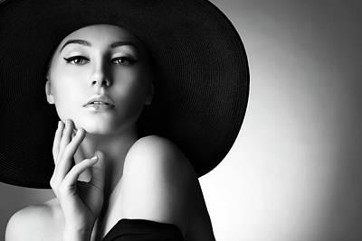 Photograph - Studio Shot Of Young Beautiful Woman by Coffeeandmilk