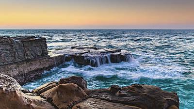 Photograph - Sunrise Headland Seascape by Merrillie Redden