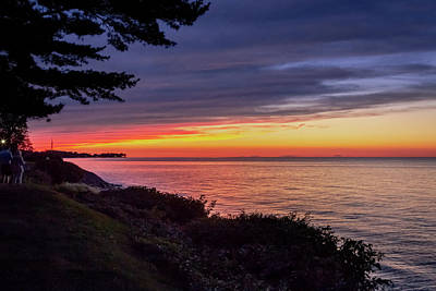 Photograph - Sunset Lake Ontario by Jack R Perry