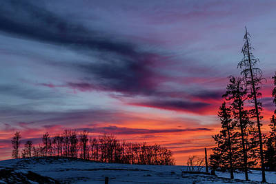 Photograph - Sunset Over A Farmers Field, Cowboy Trail, Alberta, Canada by David Butler