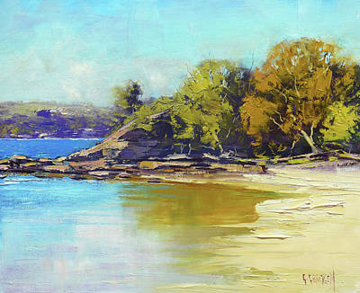 Coastal Scene Wall Art - Painting - Sydney Harbour Beach by Graham Gercken