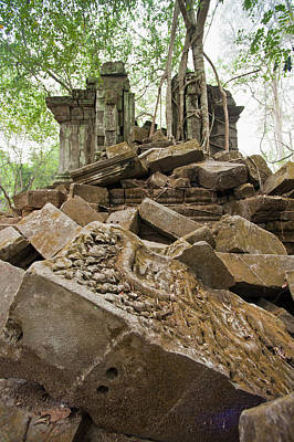 Break Of Day Photograph - Ta Prohm Temple, Angkor, Unesco World by Andrew Stewart / Robertharding