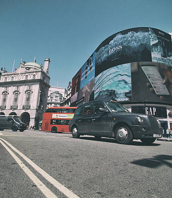 Urban Abstracts Royalty Free Images - Taxi Royalty-Free Image by Martin Newman