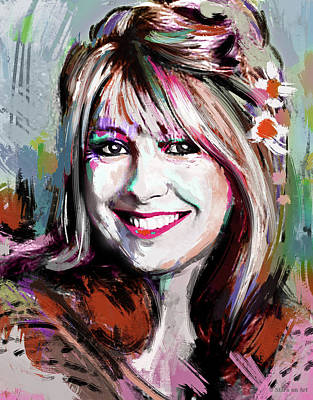 Pretty In Pink - Teri Garr by Stars on Art