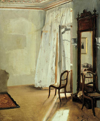 Painting - The Balcony Room by Adolph Menzel