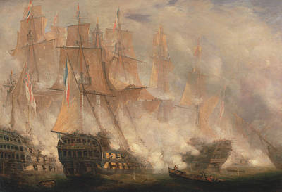 Painting - The Battle Of Trafalgar by John Christian Schetky