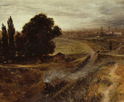 Painting - The Berlin-potsdam Railway by Adolph Menzel