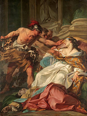 Painting - The Death Of Harmonia by Jean-Baptiste Marie Pierre