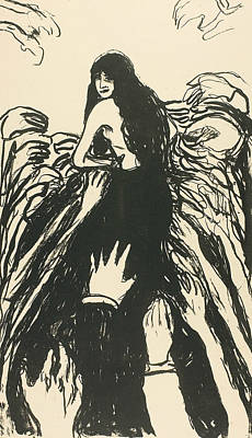 Relief - The Hands by Edvard Munch