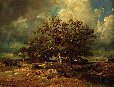 Painting - The Old Oak  by Jules Dupre