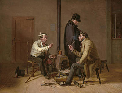 Painting - The Tough Story - Scene In A Country Tavern by William Sidney Mount