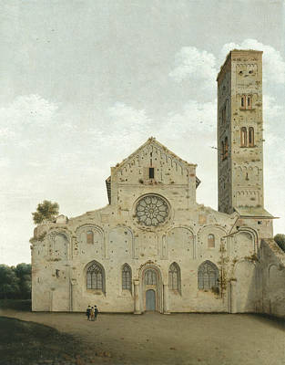 Painting - The West Facade Of The Church Of Saint Mary In Utrecht by Pieter Jansz Saenredam