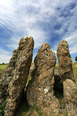 Antique Maps - The Whispering Knights Stone Circle, Rollright Stones by Dave Porter