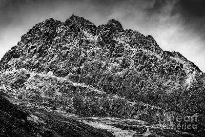 Photograph - Tryfan Mountain East Face  by Adrian Evans