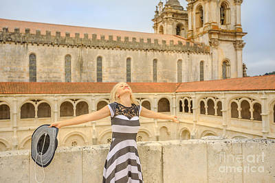 Photograph - Turism At Alcobaca Monastery by Benny Marty
