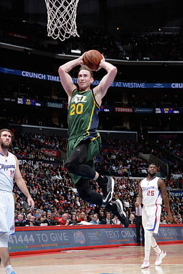 Photograph - Utah Jazz V Los Angeles Clippers by Andrew D. Bernstein