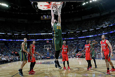 Photograph - Utah Jazz V New Orleans Pelicans by Layne Murdoch Jr.