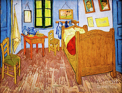 Painting - Van Gogh's Bedroom At Arles by Vincent Van Gogh