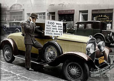 Photograph - Wall Street Crash, 1929 by Granger
