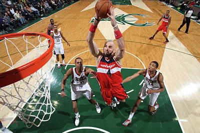 Photograph - Washington Wizards V Milwaukee Bucks by Gary Dineen