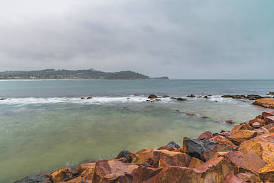 Photograph - Wet Weather Day At The Seaside by Merrillie Redden