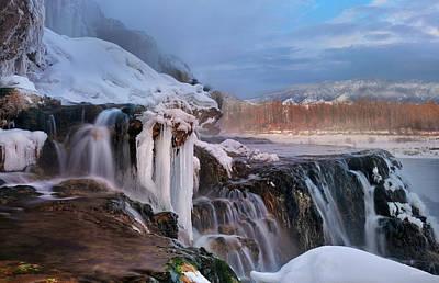 Photograph - Winter Falls by Leland D Howard
