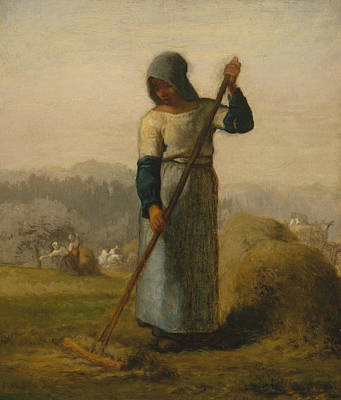 Painting - Woman With A Rake by Jean-Francois Millet