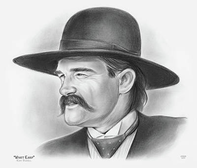 Drawings Rights Managed Images - Wyatt Earp Royalty-Free Image by Greg Joens
