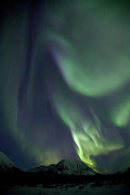 Photograph - Aurora Borealis Or Northern Lights by Robert Postma