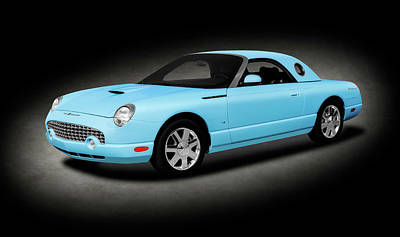 Photograph - 2003 Ford Thunderbird Hardtop Convertible  -  2003fordtbirdconverthdtptext196401 by Frank J Benz