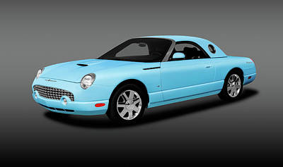 Photograph - 2003 Ford Thunderbird Hardtop Convertible  -  2003fordtbirdconvertiblefa196401 by Frank J Benz