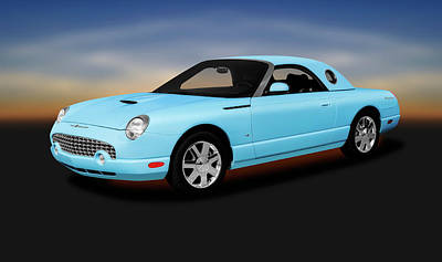 Photograph - 2003 Ford Thunderbird Hardtop Convertible  -  2003fordthunderbirdconvertible196401 by Frank J Benz