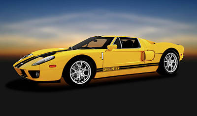 Photograph - 2005 Ford Gt40 Super Car  -  2005fordgt40supercar186226 by Frank J Benz