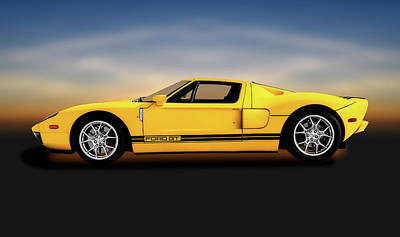 Photograph - 2005 Ford Gt40 Super Car  -  2005fordgt40supercar186236 by Frank J Benz