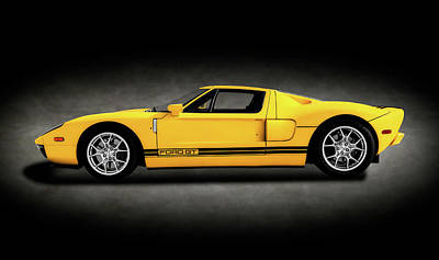 Photograph - 2005 Ford Gt40 Super Car  -  2005fordgtfortysupercarspttext186236 by Frank J Benz
