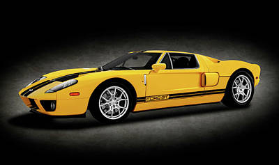 Photograph - 2005 Ford Gt40 Super Car  -  2005gt40fordsupercarspttext186226 by Frank J Benz