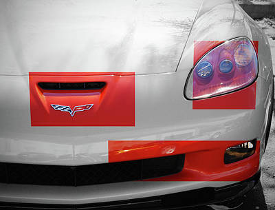 Photograph - 2008 Chevrolet Corvette Z06 - Nose by Angie Tirado