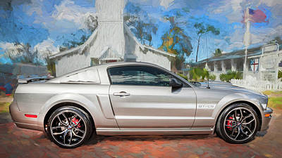 Photograph - 2009 Ford Shelby Mustang Gt Cs California Special 107     by Rich Franco