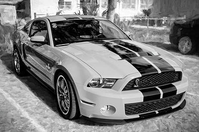 Photograph - 2010 Ford Shelby Mustang Gt500 002 by Rich Franco