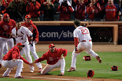 Photograph - 2011 World Series Game 6 - Texas by Rob Carr