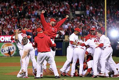 Photograph - 2011 World Series Game 7 - Texas by Ezra Shaw