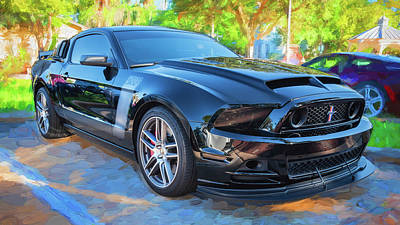 Photograph - 2013 Ford Mustang Boss 302 Laguna Seca Edition 16a by Rich Franco