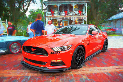 Photograph - 2016 Ford Mustang Petty's Garage 002 by Rich Franco