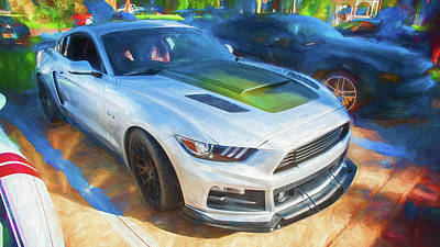 Photograph - 2017 Ford Mustang Gt P-51 Roush 15a by Rich Franco