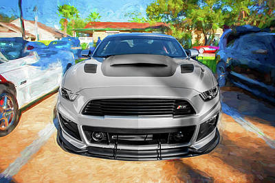 Photograph - 2017 Ford Mustang Gt P-51 Roush 15d by Rich Franco