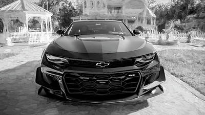 Photograph - 2018 Chevrolet Camaro Zl1 16a by Rich Franco